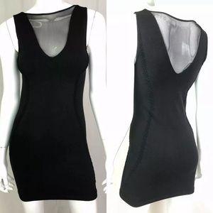 Bebe Stretchy Mesh Lace Bodycon Sheath Dress Club